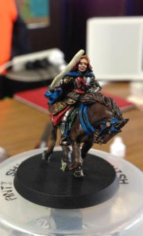 Image of mounted miniature used by my daughter in games