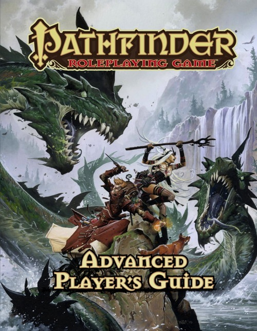 Cover of the Pathfinder Advanced Players Guide.  I must Reward the players