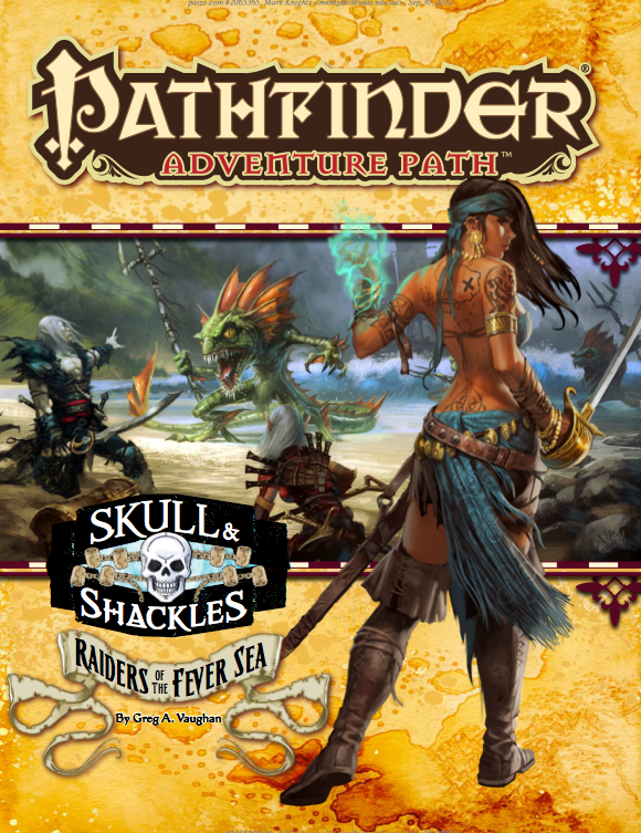 Skull and Shackles : Cover of module Raiders of the Fever Sea