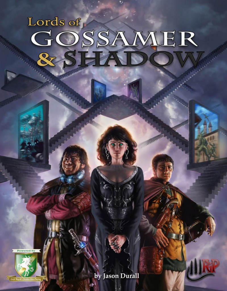 Lords of Gossamer and Shadow dice-less RPG cover