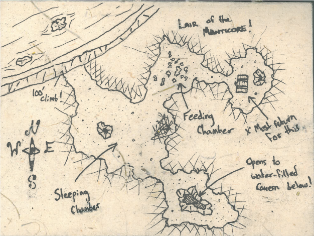 Pathfinder Encounters map of manticore lair