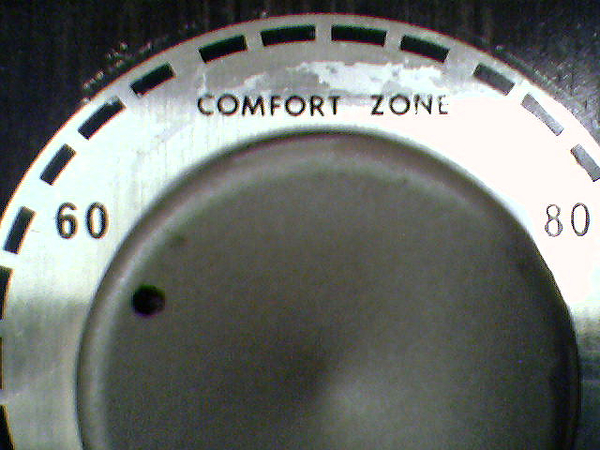 Dial set to comfort zone