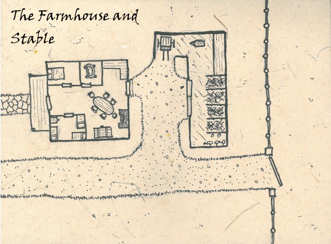 Fantasy Locale map farmhouse