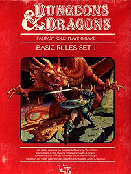 Basic Dungeons and Dragons boxed set 1983