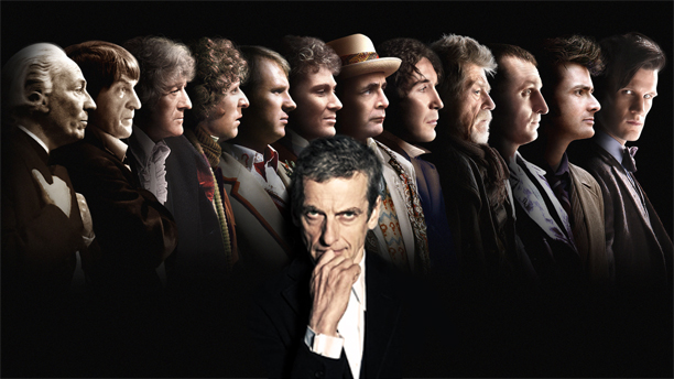 Picture of all Doctor Who actors