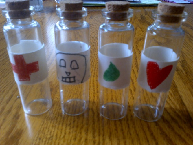 Potion bottle props
