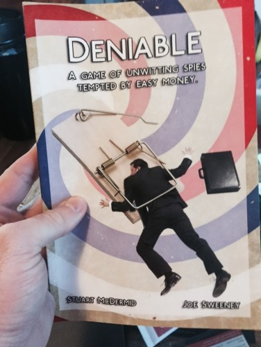 Cover of the Deniable role playing game