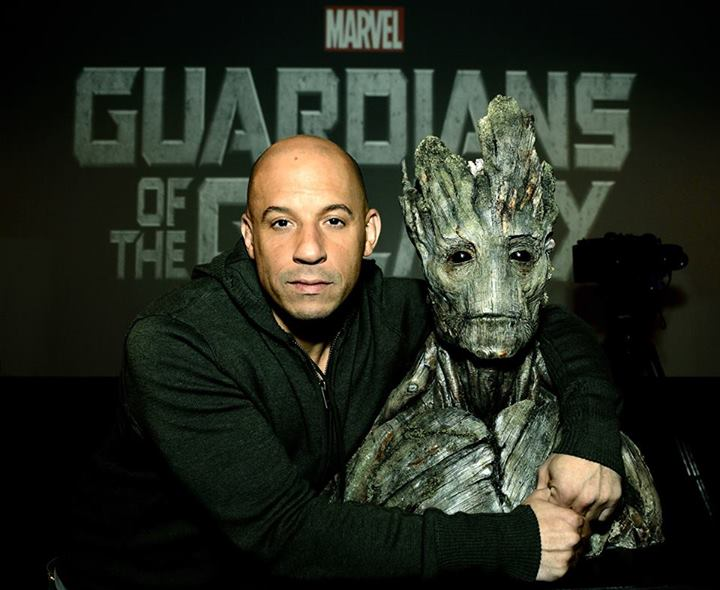 Picture of Vin Diesel with Groot