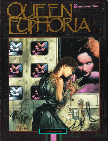 Cover of Shadowrun module Queen Euphoria