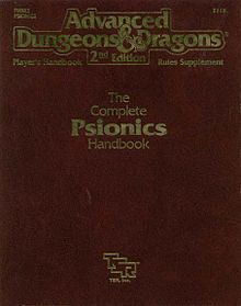 Cover of the Complet Psionics Handbook by TSR