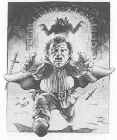 Halfling fleeing