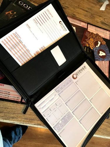 Inside of cypher system organiser